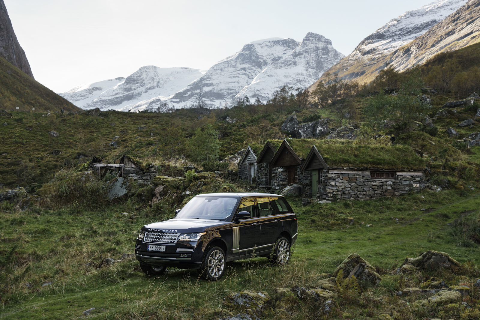 NORWAY. 2016.  Rural driving near Hjørundfjorden.   Photographed on assignment for Land Rover.